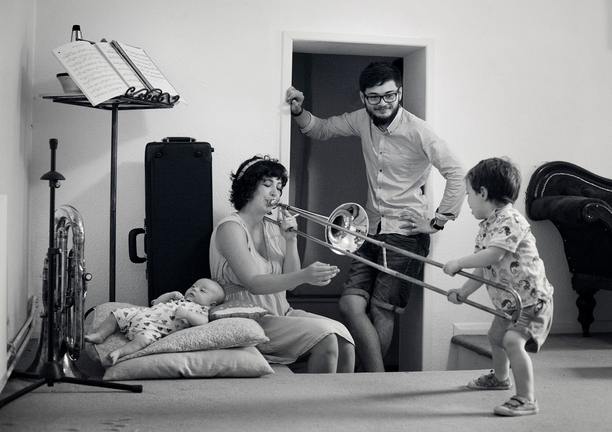 When a family loves music